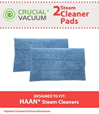 Set of 2 Blue Steam Pads fits HAAN SI-25, SI-40, SI-60, SI-70, SI-35 Steam Mop, SV-60, or MS-30 Steam Cleaner Floor Sanitizer Models; Replaces HAAN Part RMF-4