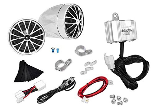 PYLE PLMCA30 Motorcycle Mount Amplified 200-Watt Stereo Sound System with Dual Handlebar Mount Speakers (Motorcycle Cruiser Accessories compare prices)