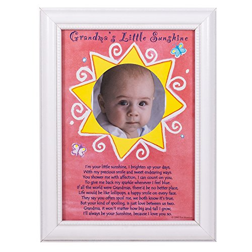 Grandma's Little Sunshine White 5x7 Picture Frame - 1