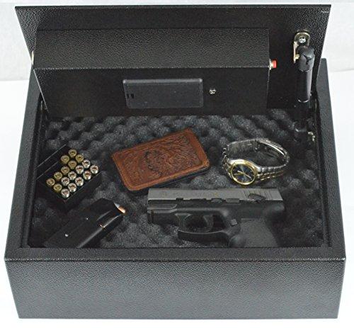 biometric fingerprint drawer personal gun safe black