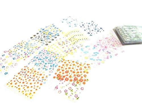ネイルアート デコレーション シール 50枚 ネイル シール ステッカー フラワー 花 ハート