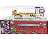 【2】 アオシマ 1/150 リアルディテール トレーラートラック V-TYPEヘッド・平床式セミトレーラー 単品