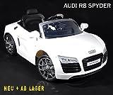 Audi R8 Lizenz-Auto Elektroauto Kinderauto V10 Fernbedienung WEISS