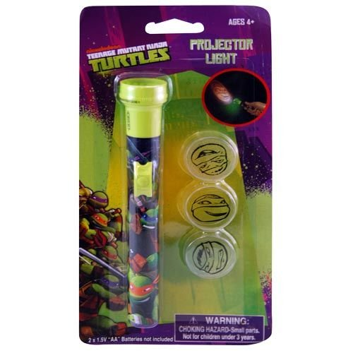 Teenage Mutant Ninja Turtles Small Projector Light with Three Interchangeable Lenses - 1