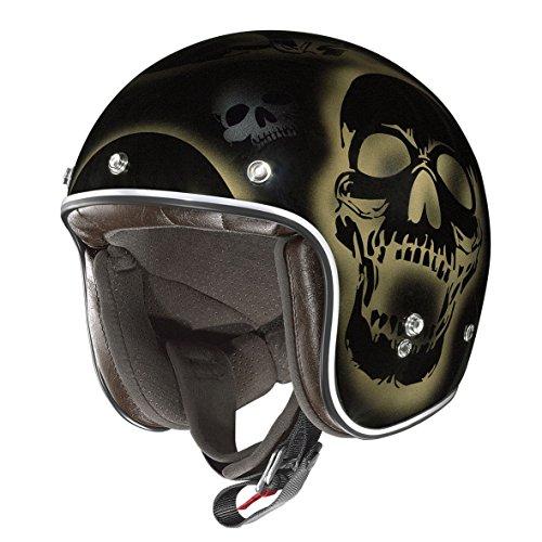 X-Lite 201Las Cruses Motorcycle Composite Fibre N-Com Jet Helmet Black Gold