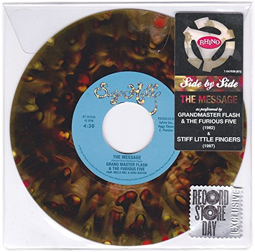 Grandmaster Flash - Grandmaster Flash / Stiff Little Fingers: Side By Side - The Message Vinyl 7