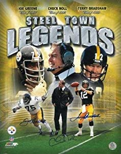 Pittsburgh Steelers signed Steel Town Legends 16x20 Photo Collage 3 sig w Joe Greene,... by Sports Memorabilia