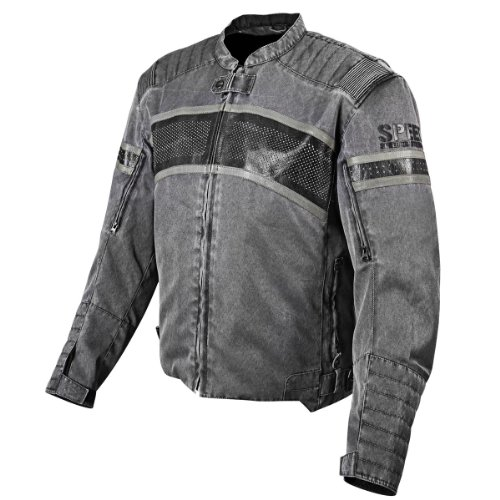 Speed and Strength Cruise Missile Men's Motorcycle Textile/Leather Jacket (Vintage Black, Large)