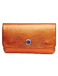 Womaniya PU Orange Handbag For Women(Size-28 Cm X 15 Cm X 3 Cm)