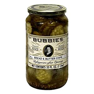 1 CASE, Bubbies, Pickles, Bread and Butter Chips, 33 oz, 12 per case