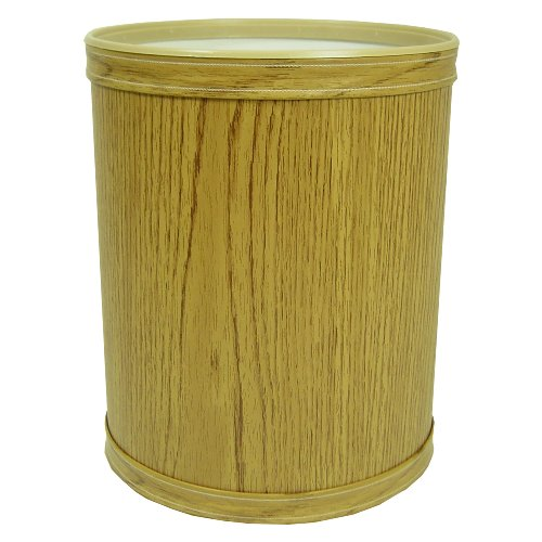 Redmon R730OK Oak Infant & Toddler Wood Grain Vinyl Round Wastebasket