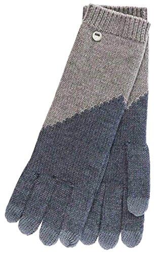 UGG Women's Fine Gauge Color Block Smart Gloves Graphite Heather Multi One Size