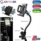 CAPDASE Car Charger Holder カーチャージャーホルダー (充電用USBポート2口,シガーソケット予備口搭載 車載アダプター) CA00-H101
