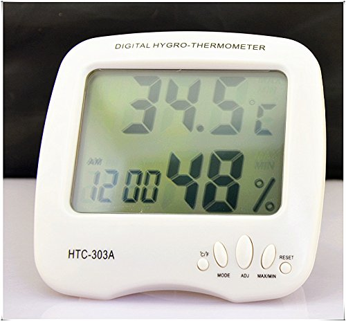 Eulay HTC-303A Digital Indoor Thermometer Hygrometer with Alarm Clock & Date (Digital Hygrometer Beer compare prices)