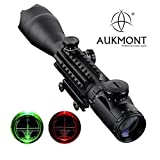 Aukmont Telescopic Sight 4-16x50EG Green/Red Hunting Rifle Scope LLL Night Vision