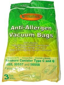 Kenmore 5055, 50557, 50558, Type C, Q, C-5 Canister Vacuum Cleaner Bags