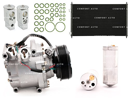 2002 Honda Civic 4 dr sedan / 2003 2004 2005 Honda Civic 1.7L New AC Compressor and Complete repair kit with condenser 1 Year Warranty (02 Sensor Conector compare prices)