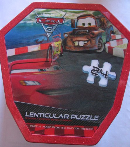 Cars 2 Lenticular Puzzle in Tin 24 Peices - 2 of 2 - 1