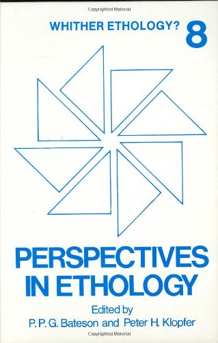 Perspectives in Ethology, Vol. 8: Whither Ethology?
