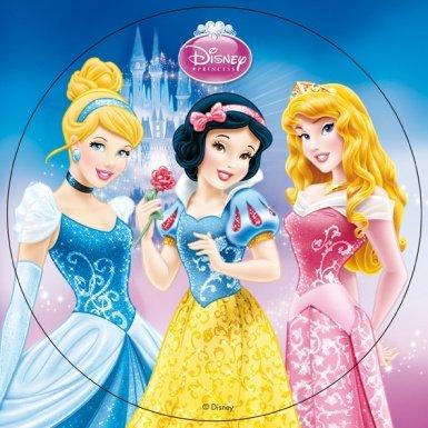 Disco di ostia per torte da 20 cm Principesse Disney Taglia Unica