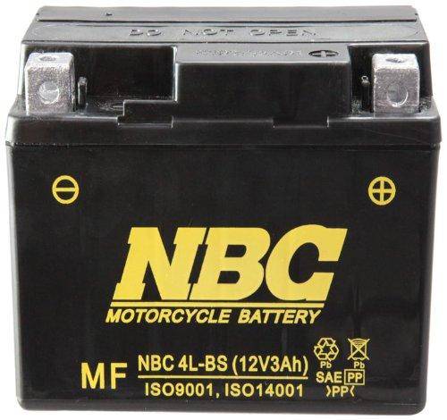 NBC   シールド型 バイク用バッテリー NBC 4L-BS