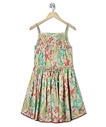 Budding Bees Girls Multicolour Gathered Dress