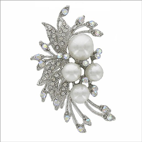 Different Size Pearl & Crystal Stone Pin #041759