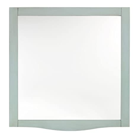 "Savoy Beveled Mirror, 32""Hx30""W, ANTIQUE AQUAMARINE"
