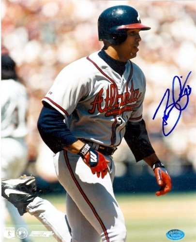 Dave Justice Autographed/Hand Signed 8x10 Photo (Atlanta Braves 1995 World Series Champion) at Amazon.com