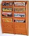 Wooden Mallet MR24-8MO Magazine Rack