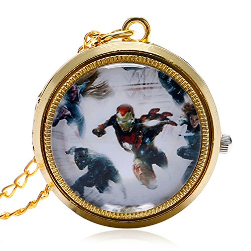 spinning-avengers-assemble-polished-gold-finish-case-mens-quartz-fob-pocket-watch-necklace-on-32-inc