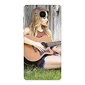 Cute Girl Guitar Back Case Cover for Redmi 2s