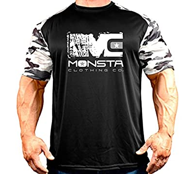Monsta Clothing Co. Men's DriFit-MC-CamoSleeve-(TEE-243) T-Shirt