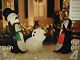 2 Inflatables in One Box - 5 Penguins Keep Away Snowman Combo Pack Christmas
