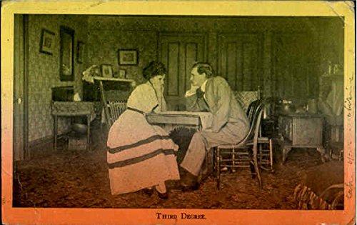 Third Degree Romance & Love Original Vintage Postcard