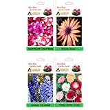 Alkarty Sweet William Mixed, Mesembryanthemum / Midday Flower, Larkspur Fire Mixed And Poppy Shirley Mixed Flower...