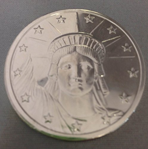 1 Ounce Silver-Plated Statue of Liberty Head Copper Round - 1