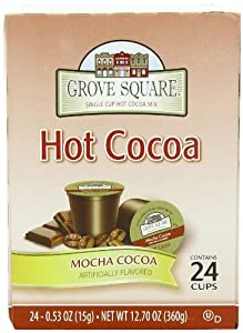 Grove Square Hot Cocoa, Mocha Cocoa, 24 Count Single Serve Cups