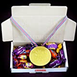 Dad No.1 Heroes Treat Box - Cadbury Heroes Chocolates with No.1 Dad Chocolate Medal - Father's Day Gift Idea - By Moreton Gifts