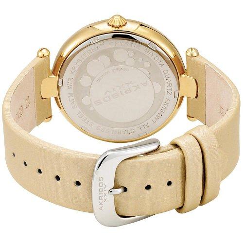 Imagen de AKR434YG Akribos XXIV de la Mujer en oro tono Sunray Diamond esfera de un reloj de cuarzo Correa