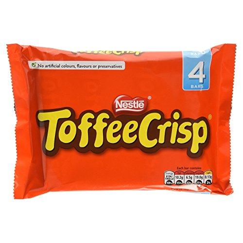 Toffee Crisp Chocolate Bar 4 x 38g Pack - 5.3oz (British Chocolate) (Pack Of British Candy compare prices)
