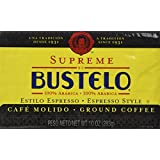Supreme by Bustelo Premium Ground Coffee, Espresso Style, 10-Ounce Bricks (Pack of 4)