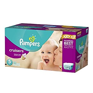 Pampers Cruisers Diapers Size 5 Economy Pack Plus 132 ea