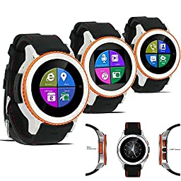 Indigi UNLOCKED! Android 4.4 SmartWatch Cell Phone 3G+WiFi Google Play Store Waterproof Smart Watches Unlocked Smartphone