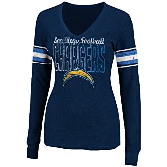 NFL Ladies San Diego Chargers Gameday Gal IV Athletic Navy Heather Long Sleeve Deep... by VF LSG
