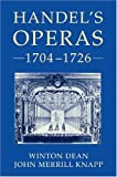 img - for Handel's Operas, 1704-1726 book / textbook / text book