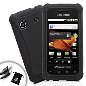 Sleek Impact-Resistant Protective Case for Samsung Galaxy Prevail / Precedent Includes Micro USB Charge Cable