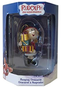 New Rudolph Red Nosed Reindeer Girl Elf Christmas Ornament
