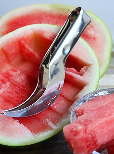 #1 Rated Watermelon Slicer - No Mess, No Stress, Neat & Easy With Juicy Slices of Melon and Many Other Fruits - Stainless Steel Corer Knife and Melon Cutter (Multi Soap Cutter compare prices)