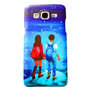 Generic Phunk International Hard Case Mobile Cover For Samsung Galaxy J2 (Blue)